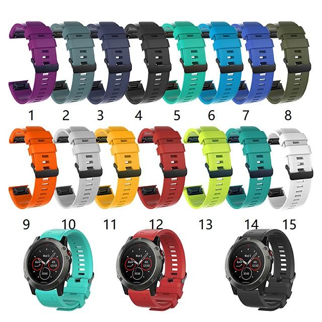 สายนาฬิกา สำหรับ Fenix 5x Garmin หัวกลัดแบบคลาสสิก ยางทำจากซิลิคอน สายห้อยข้อมือ