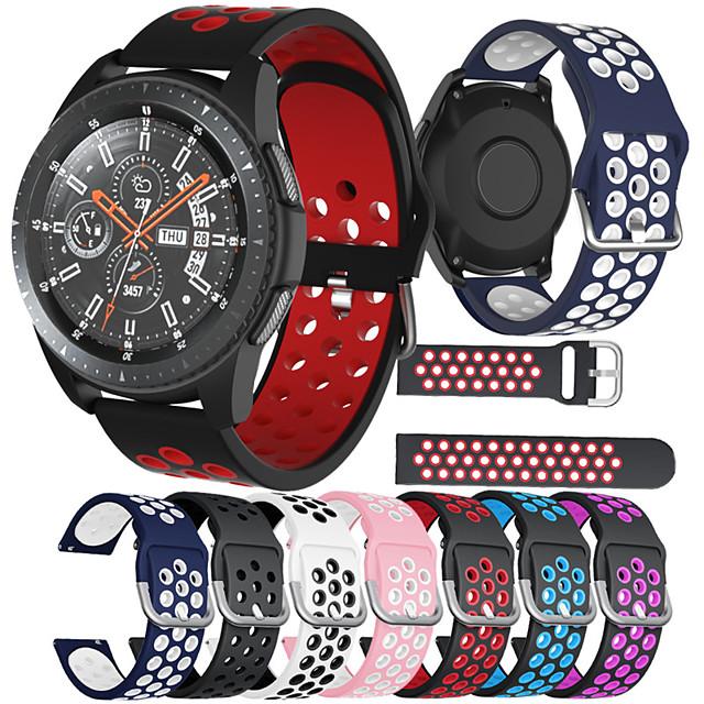 pásek na hodinky pro samsung gear s2 / s2classic / galaxy hodinky aktivní / aktivní 2 / galaxie hodinky 42mm / gear sportovní sportovní pásky špičkové módní měkké pohodlné zdraví silikony řemínky na