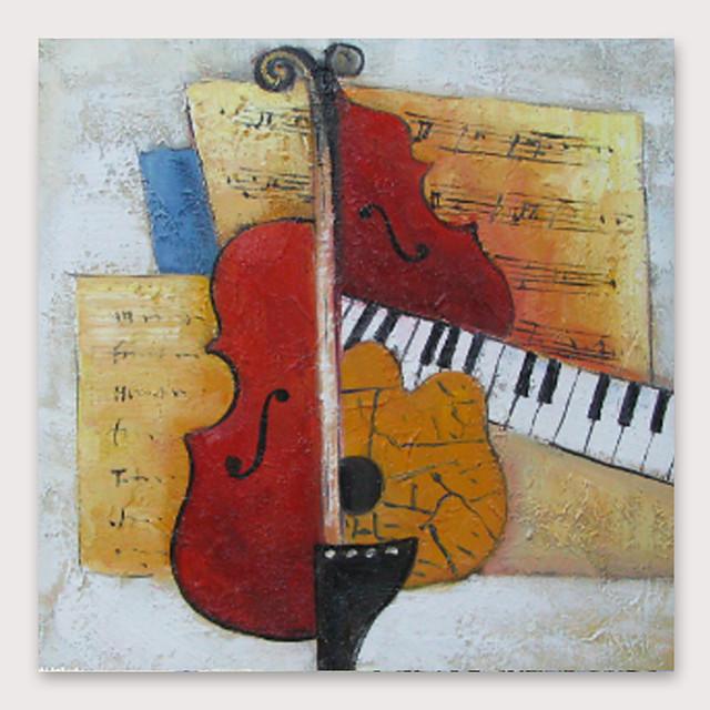Hang-geschilderd olieverfschilderij Handgeschilderde Vierkant Abstract Modern Inclusief Inner Frame