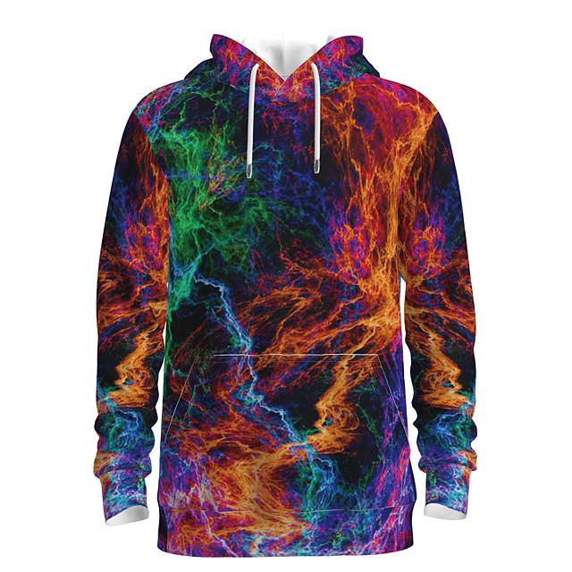 Voor heren Dagelijks Sweatshirt met capuchon 3D Grafisch Capuchon Basic Hoodies Sweatshirts Lange mouw Regenboog
