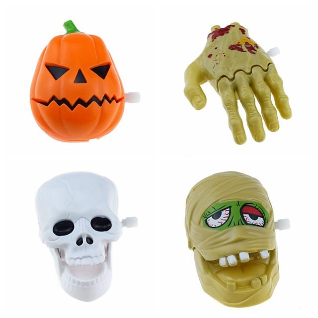 Halloween Party speelgoed Opwindspeelgoed Snoep of je leven 4 pcs Skull Skeleton Geest Pompoen Feestartikelen ABS Kinderen Volwassenen Trick or Treat Halloween-feestartikelen