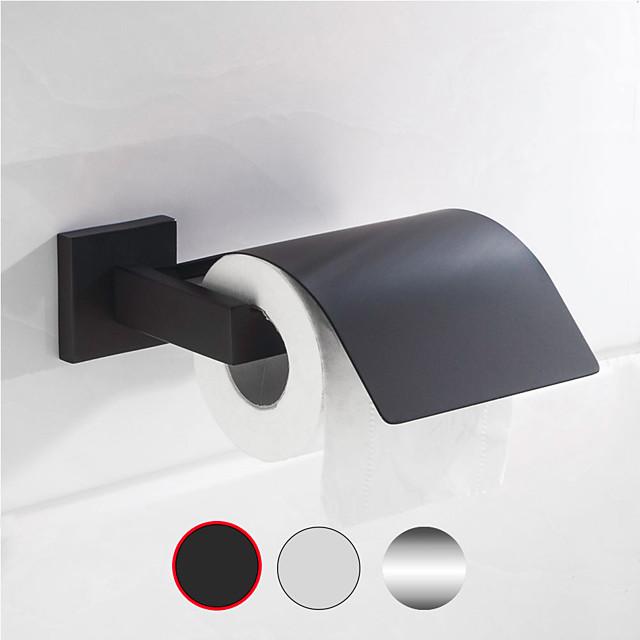 Porte-papier hygiénique en acier inoxydable galvanisé et brossé Porte-papier en rouleau de salle de bain mural 1 pc