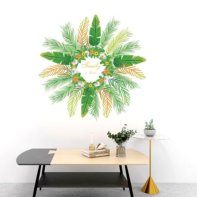 walldecals decor vinyl diy groene boom bladeren muurstickers verwijderbare waterdicht behang decals art gemakkelijk peel& stok voor kinderkamer woonkamer slaapkamer 30 * 60 * 2 cm