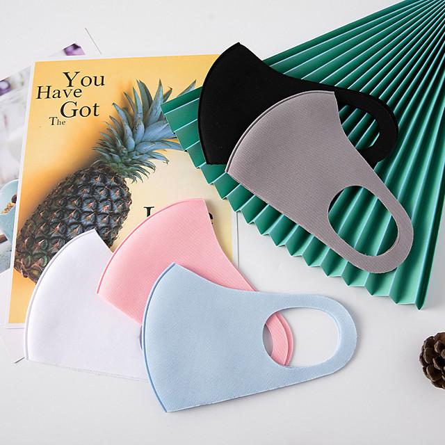 5 pcs / pack masques matelassés tricotés anti-poussière isolation thermique épaissie mode imperméable à l'eau chaude adulte anti-brume masques de mode automne et hiver
