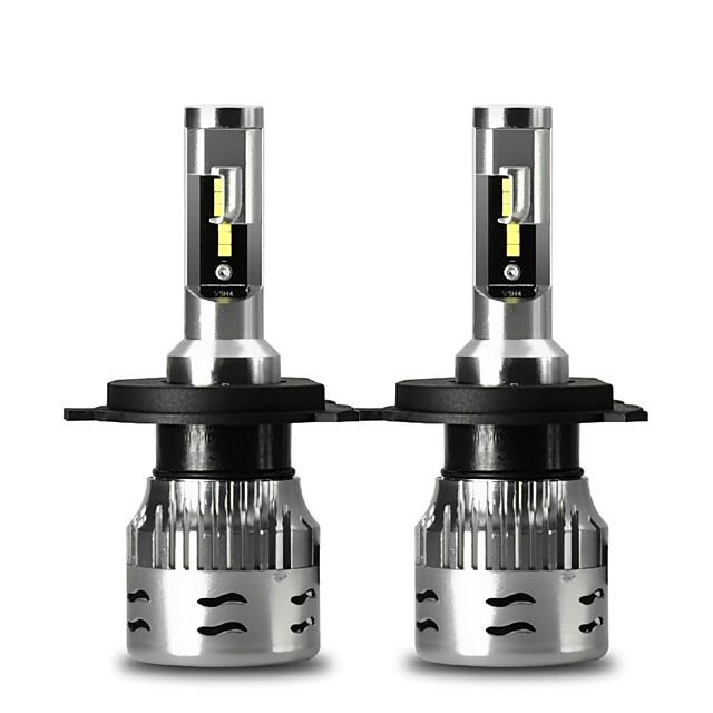 cnsunnylight v5 ece светодиодные фары автомобиля 2 шт h4 9004 9007 h13 60w 12000lm / пара турбо светодиодные лампы csp налобный фонарь 12v