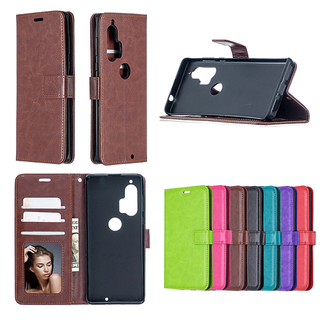 case for motorola e4 play e3 g4 plus g4 play g5 plus play g7 power p30 play one vision p40 one action zoom hyper e6 play g8 card holder shockproof flip full body cases solid colors pu leather tpu
