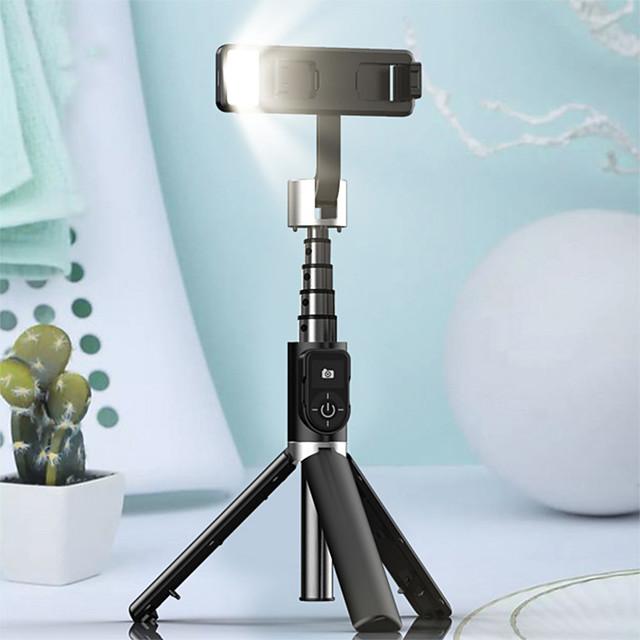 p70d bluetooth selfie stick treppiede luce di riempimento supporto per registrazione video direzione universale regolabile stabilizzatore per smartphone vlog