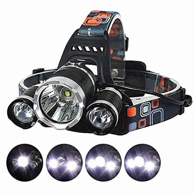 Lampes Frontales LED Phare Avant de Moto Imperméable Super brillant Émetteurs 4.0 Mode d'Eclairage avec Piles et Chargeur Imperméable Super brillant Ultra léger (UL) Camping / Randonnée / Spéléologie