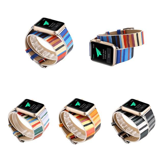 Watch Band için Apple Watch Serisi 5/4/3/2/1 Apple Klasik Toka Kapitoneli PU Deri Bilek Askısı