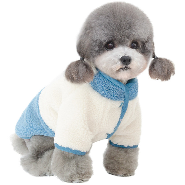 Dog Coat Jumpsuit Color Block Casual / Sporty Cute Casual / Daily Winter Dog Clothes Puppy Clothes Dog Outfits Breathable Yellow Blue Costume for Girl and Boy Dog Polyster S M L XL XXL