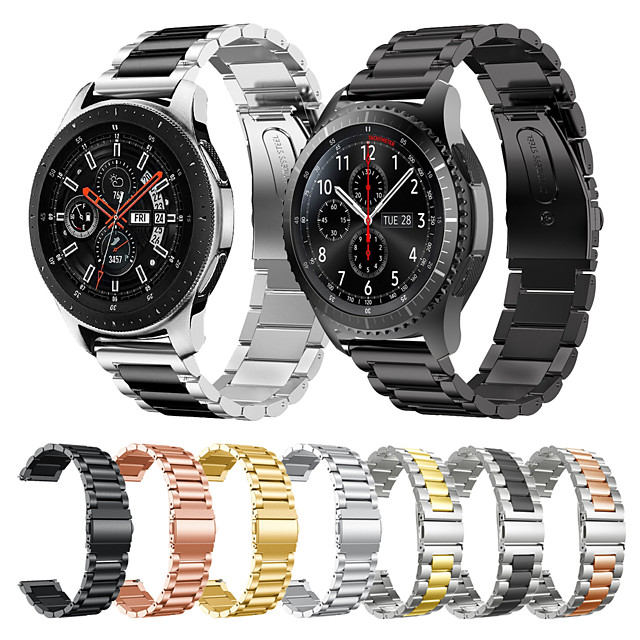 roestvrij stalen horlogeband voor galaxy watch 3 45 mm / samsung galaxy watch 46 mm / gear s3 classic / frontier armband vervangbare polsband