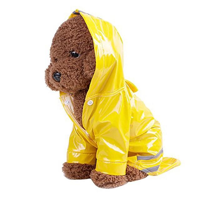 Haustier Hund Kapuze reflektierenden Regenmantel, Haustier Hündchen wasserdichte winddichte Jacke Regen Poncho Outdoor leichte packbare Mantel (s / Rückenlänge: 7,48