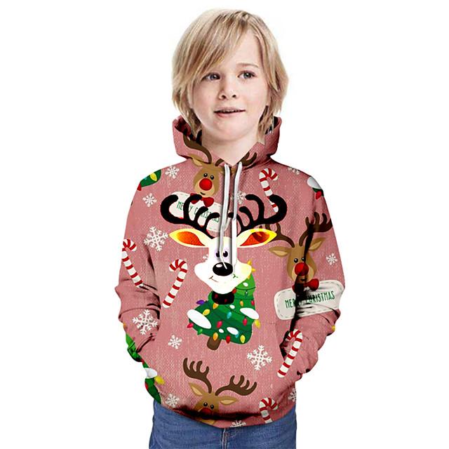 Kinderen Jongens Hoodie & Sweatshirt Kerstmis Lange mouw Basic Rood