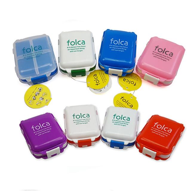 Boîte / Etui à Médicaments de Voyage Portable / Accessoire de Bagage Plastique 10*7*3.5 cm