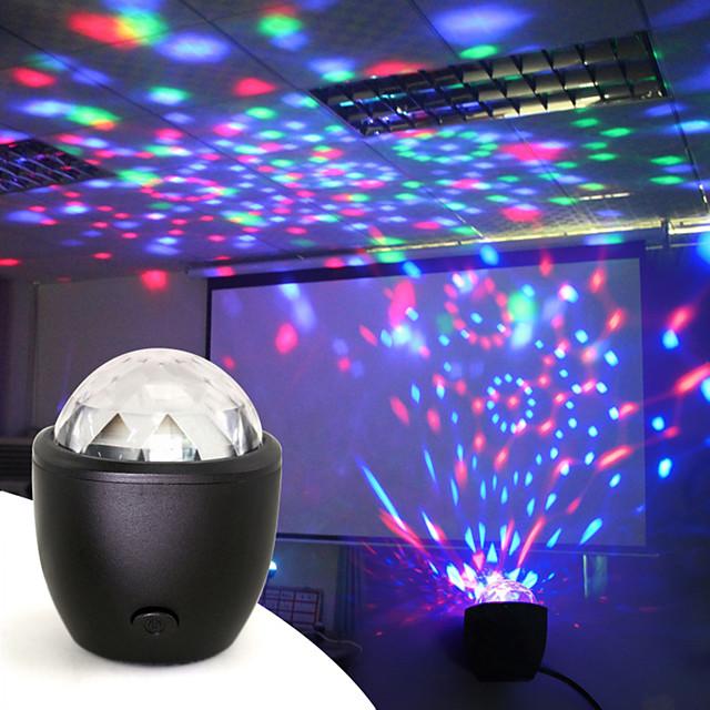 luci del proiettore del palcoscenico del partito della palla da discoteca mini luci del dj del flash della sfera magica di cristallo del usb attivato vocalmente per la casa ktv bar car