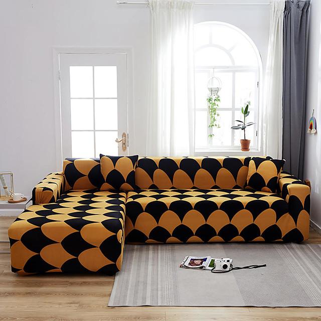 stretch hoes sofa cover sofa cover geometrische gedrukt sofa cover stretch sofa cover sofa kussenovertrekken voor 1 ~ 4 kussen bank met een gratis kussensloop