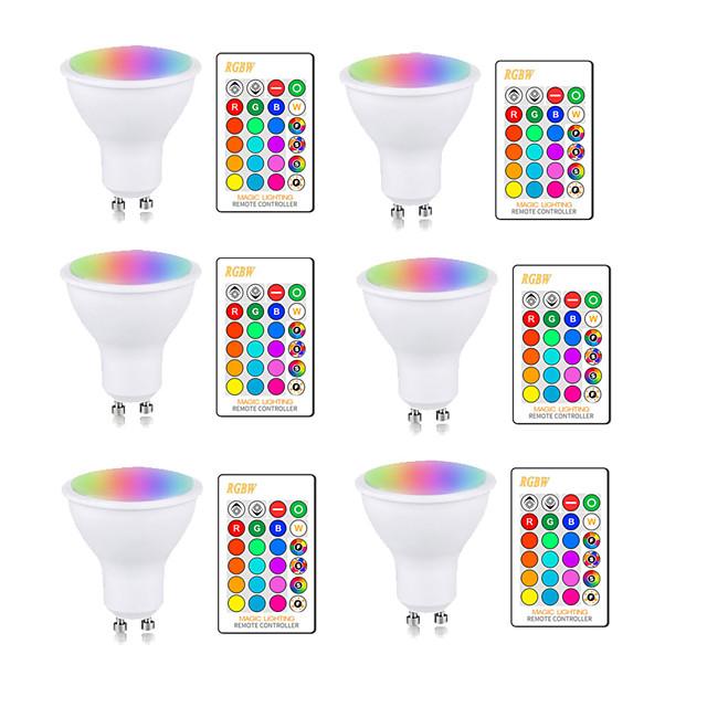Ampoule LED 5W RGBW GU10 E27 AC85-265V Changement de couleur de la lampe d'éclairage Dimmable avec télécommande IR