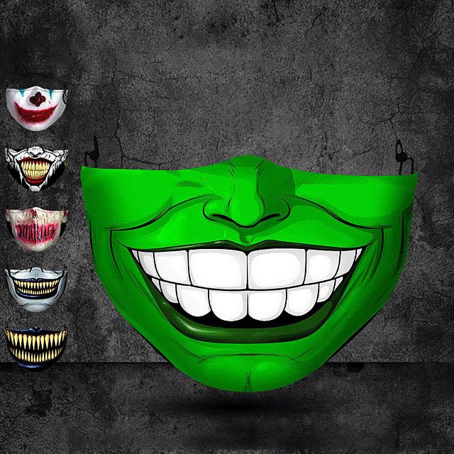 Halloween commerce extérieur impression adulte anti-poussière masque stéréo 3d de protection peut être lavé masque de coton Vente en gros personnalisé