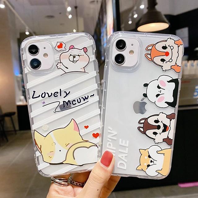 case voor apple iphone 12 iphone se 2020 11 pro max xs max xr x 7 8 plus 6 6s plus transparant patroon achterkant woord zin dier tpu