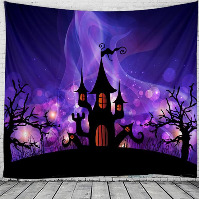 Klassiek Thema / Halloween Muurdecoratie 100% Polyester Klassiek / Psychedelisch Muurkunst, 150*100 cm Decoratie