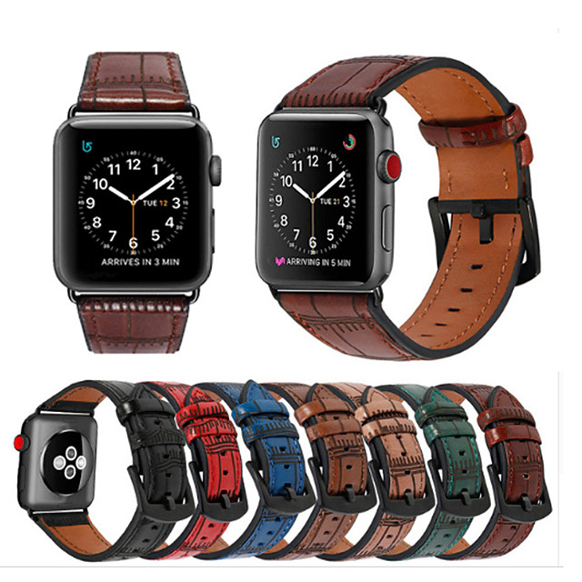 Pogledajte Band za Apple Watch Series 5/4/3/2/1 / Fenix6s Apple Klasična kopča Prava koža Traka za ruku