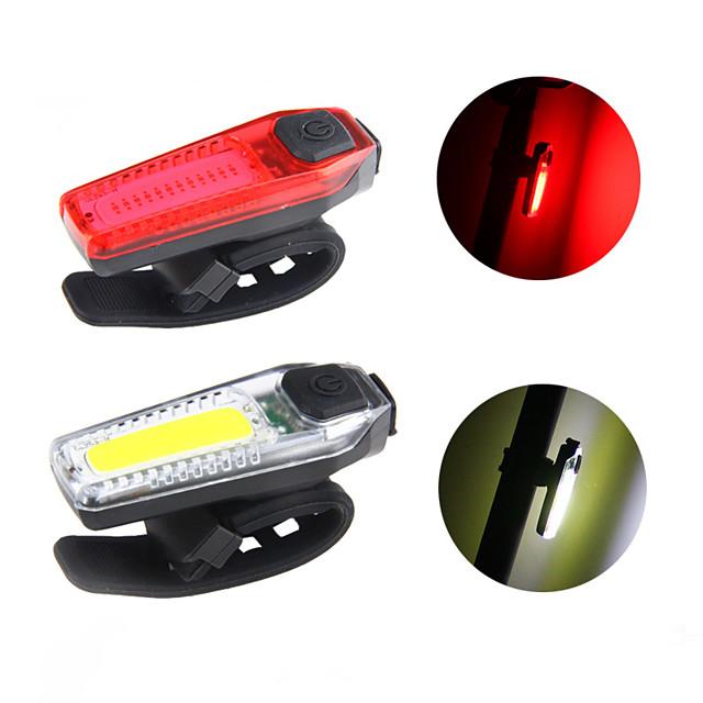 LED Luci bici Luce posteriore per bici luci di sicurezza Luci di coda Bicicletta Ciclismo Impermeabile Modalità multiple Super luminoso Facile da applicare Rosso Blu