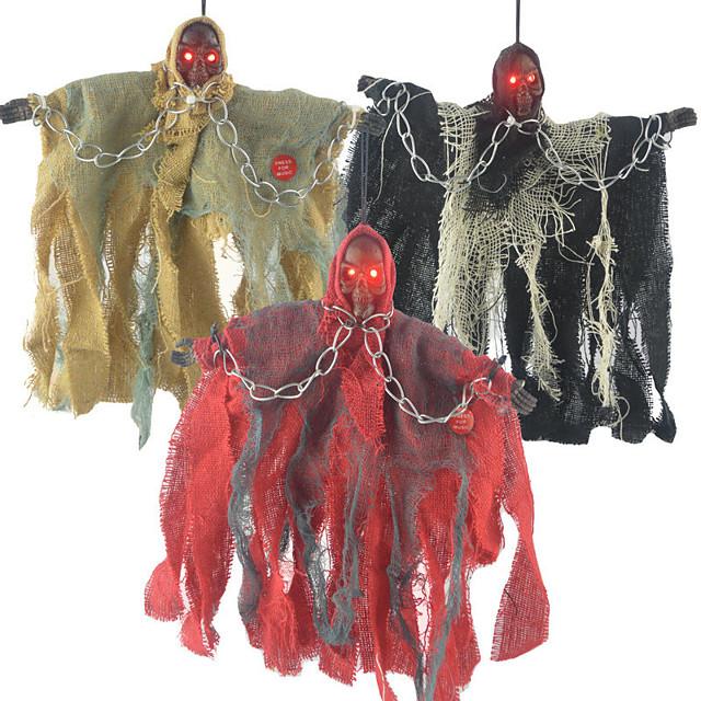 Halloween Party speelgoed Halloween hangende geest Electrisch met eng geluid en gloeiende rode ogen Hars Kinderen Volwassenen Trick or Treat Halloween-feestartikelen