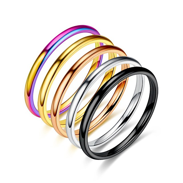 2 mm wolfraamcarbide stapelring effen trouwring (goud, 4,5)