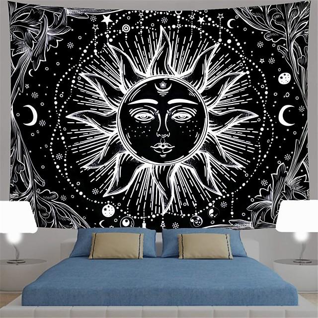 wandtapijten art decor deken gordijn picknick tafelkleed opknoping thuis slaapkamer woonkamer slaapzaal decoratie polyster print zon meisje