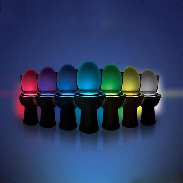 ywxlight® 8 culori toaletă lumină condus toaletă ușoară senzor de mișcare umană lumină baie toaletă lumină de noapte pir automat activat