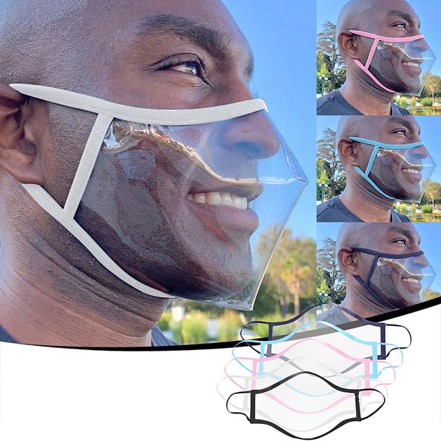 adulte unisexe langue des lèvres anti-poussière smog et anti-crachat matériel PVC masque transparent