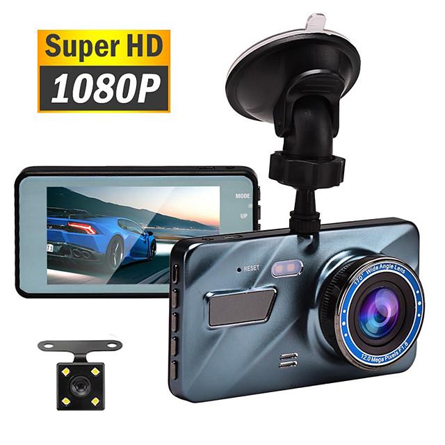 1080p تصميم جديد / التمهيد التلقائي التسجيل سائق سيارة 140 درجة زاوية واسعة 3.5 بوصة TFT / LTPS / LCD داش كام مع ليلة الرؤية / G-Sensor / تسجيل غير منتهي مسجل السيارة