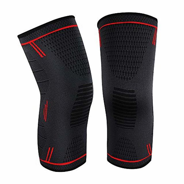 kniebrace kniehoezen voor heren / dames 1 paar rood, groot