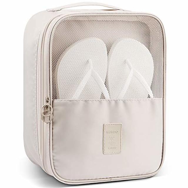 schoenenopberger, ademende ruimtebesparende schoenentassen voor op reis grijs