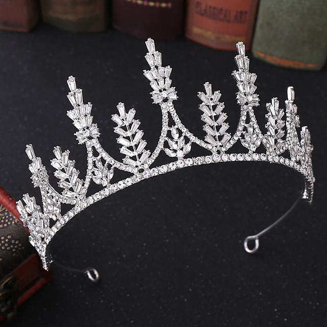 Dames Voor Bruiloft Feest / Avond Maskerade Sieraden Series Romantische serie plaveien Synthetische Diamant Legering Zilver Gouden 1pc