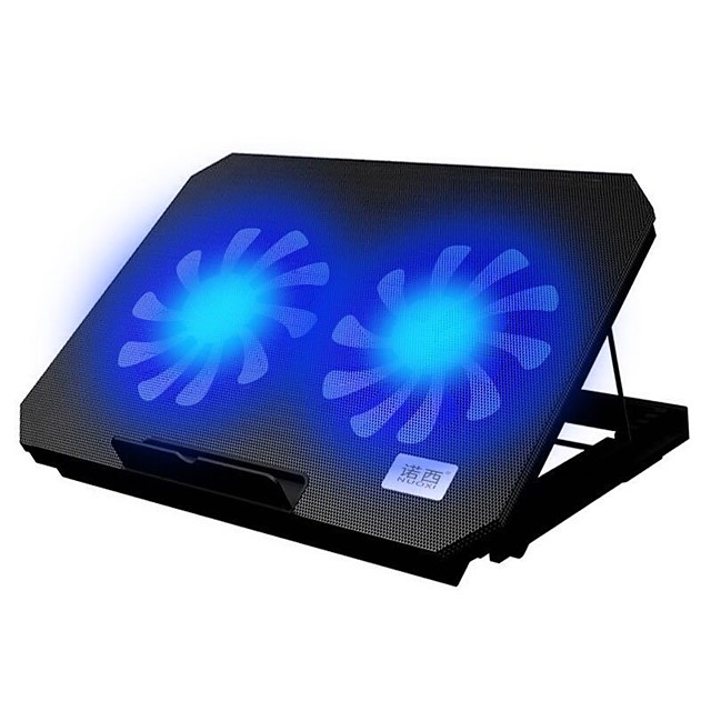 Gaming Laptop Cooler Adjustable Speed 2 USB Ports and 2 Cooling Fan Laptop Cooling Pad Notebook Stand for 12-17 inch