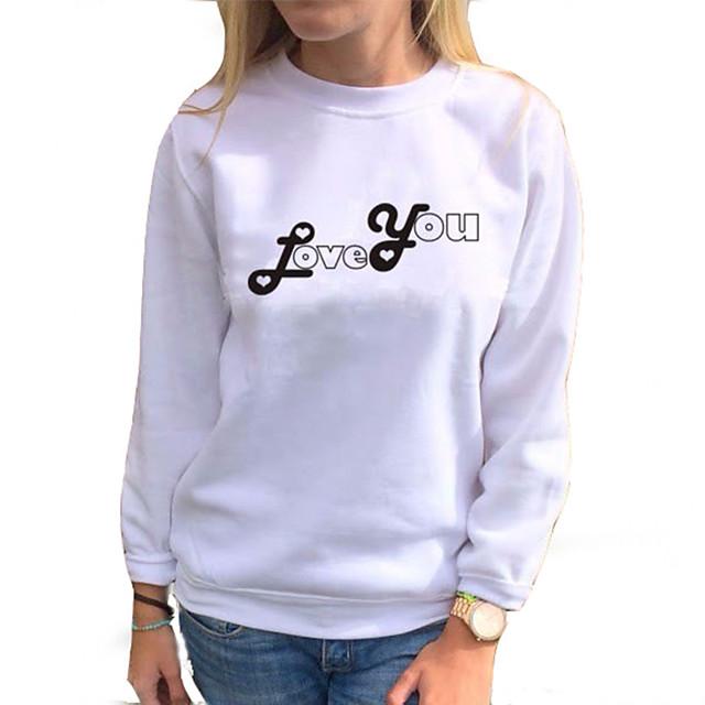Dames Uitgaan Blouse Overhemd Grafische prints Lange mouw Ronde hals Tops Slank Elegant Basis Top Wit