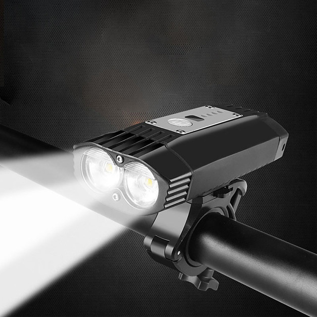 k-21 serie professionale potente faro impermeabile a doppio led luminoso da 2000 lumen   supporto per barra o casco con sgancio rapido   Batteria ricaricabile agli ioni di litio a 4 celle  