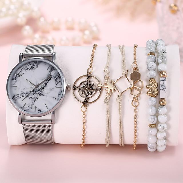 Dame Armbåndsur Quartz Quartz Moderne Stil Elegant Fritid Kronograf Analog Rose Gull Svart Sølv