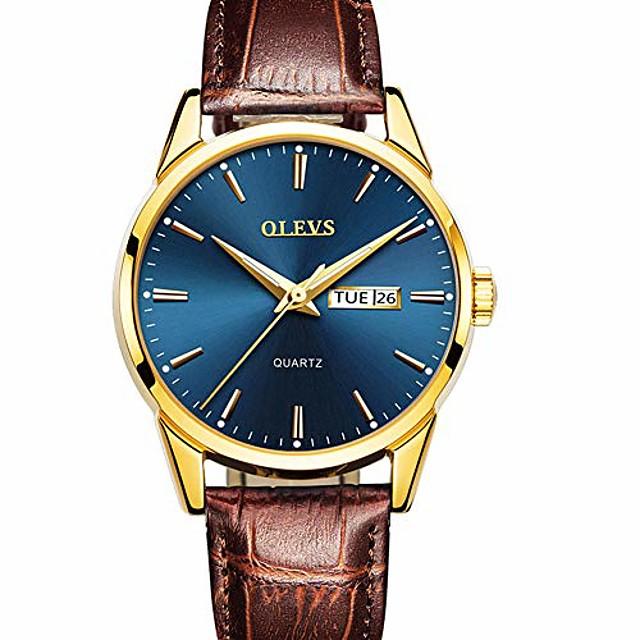 orologio da uomo in pelle marrone, orologio da uomo orologio da polso analogico al quarzo moda casual, orologi da giorno per uomo, orologio da uomo in oro rosa impermeabile, orologi con quadrante blu
