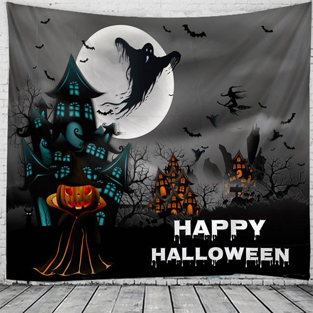 halloween spook print wandtapijten wandtapijten muur opknoping bloem psychedelische tapestry muur opknoping decor halloween decoratie voor woonkamer slaapkamer