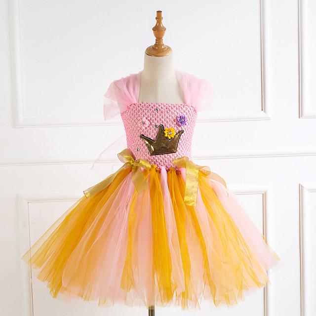 Prinses Cosplay Kostuums Kostuum Voor meisjes Film cosplay Tutu gevlochten vakantie jurk Roze Kleding Kerstmis Halloween Carnaval Polyester / katoen Polyesteri