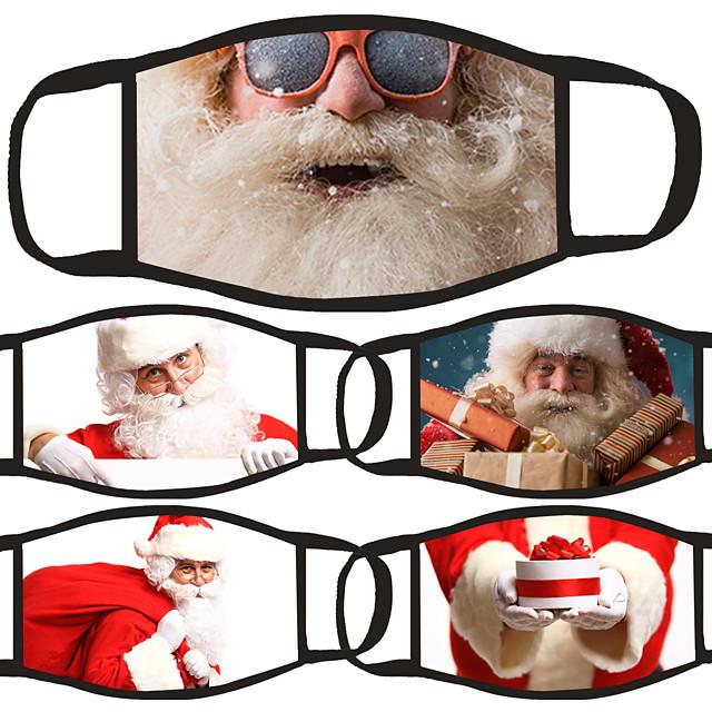 5 db arcmaszk fedél porálló pamut vörös és fehér napi viselet porálló karácsony
