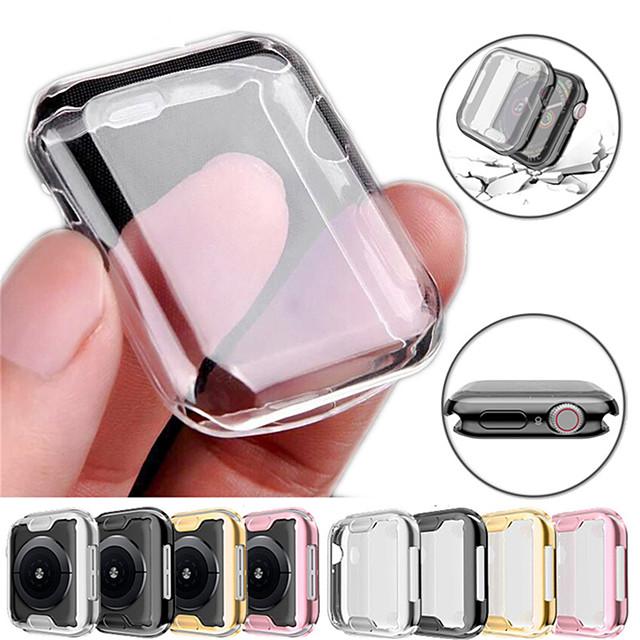 360 λεπτό κάλυμμα ρολογιού για θήκη ρολογιού μήλου 6 se 5 4 3 2 1 42mm 38mm soft clear tpu screen protector for iwatch 4 3 44mm 40mm