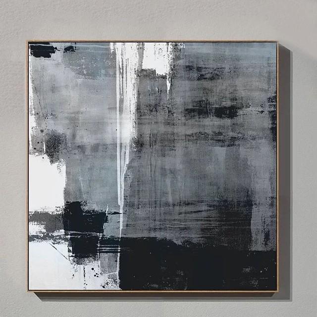 Hang-geschilderd olieverfschilderij Handgeschilderde Verticaal Abstract Landschap Hedendaags Modern Zonder Inner Frame (Geen frame)
