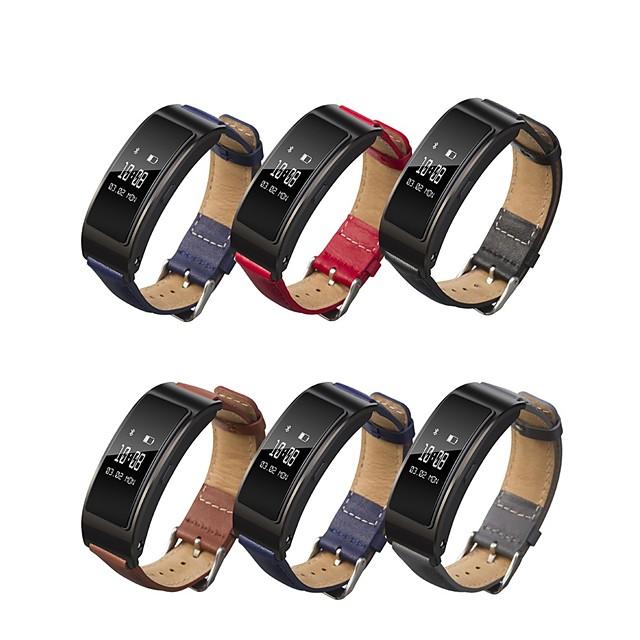 Horlogeband voor Huawei B3 Huawei Klassieke gesp Gewatteerd PU-leer / Echt leer Polsband