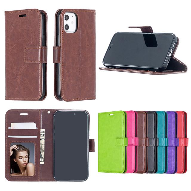 케이스 iphone 5 6 plus 7 plus 8 plus x xs max 11 pro max se 12 카드 홀더 충격 방지 플립 전신 케이스 솔리드 컬러 pu 가죽 tpu