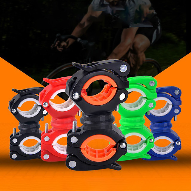 2-pack zaklamp houder, universele fiets LED licht montage houder 360 ° rotatie clip klem voor zaklamp, fietsen, rijden% uff08 wit zwart% uff09