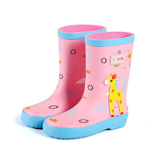 Jongens Voor meisjes Regenlaarzen Regenlaarzen Rubber Little Kids (4-7ys) Big Kids (7jaar +) Dagelijks Wandelen Geel Blauw Roze Lente / Kuitlaarzen