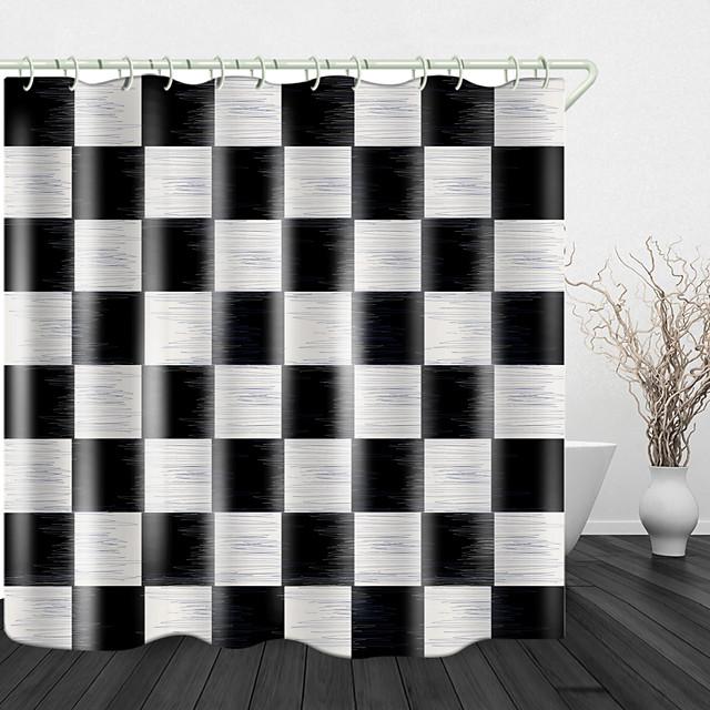 plaid stof print waterdichte stof douchegordijn voor badkamer home decor bedekt bad gordijnen liner omvat met haken